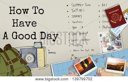Reminder To-Do List Planner Information Concept