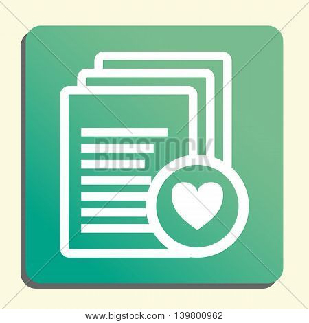 Files Heart Icon In Vector Format. Premium Quality Files Heart Symbol. Web Graphic Files Heart Sign