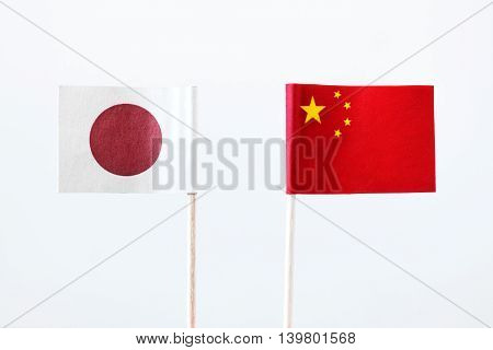Flags Of Japan And China