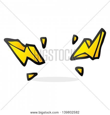 freehand drawn cartoon decorative doodle lightning bolts