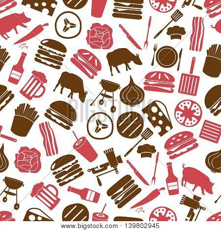 Hamburger Theme Modern Simple Icons Seamless Color Pattern Eps10