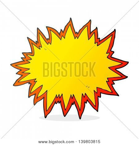 freehand drawn cartoon explosion sign