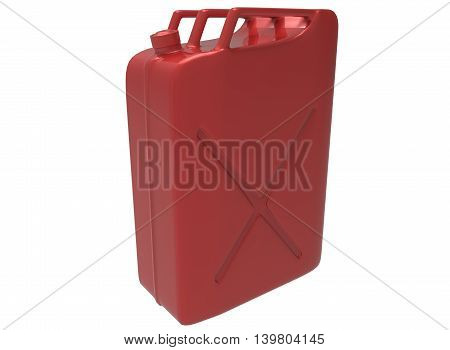 3d illustration of gas can. white background isolated. icon for game web.