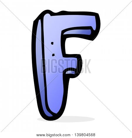cartoon letter F