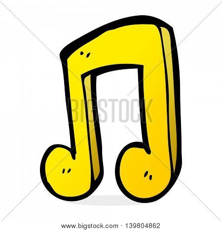 cartoon musical note