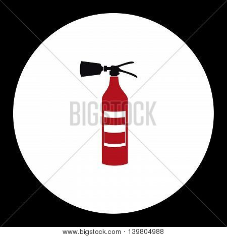 Red Fire Extinguisher Simple Isolated Icon Eps10