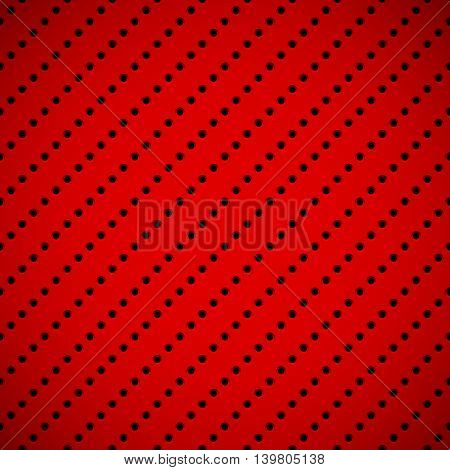 Red abstract technology background with seamless circle perforated speaker grill texture for web, user interfaces, UI, applications, apps, business presentations and prints. Vector illustration.