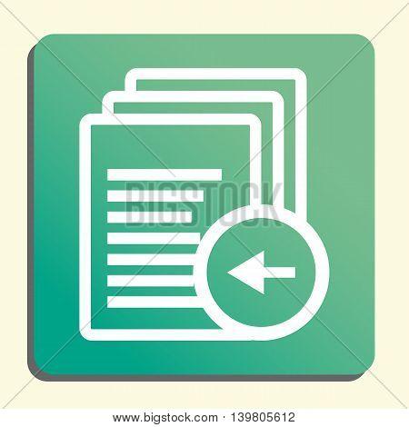Files Left Icon In Vector Format. Premium Quality Files Left Symbol. Web Graphic Files Left Sign On