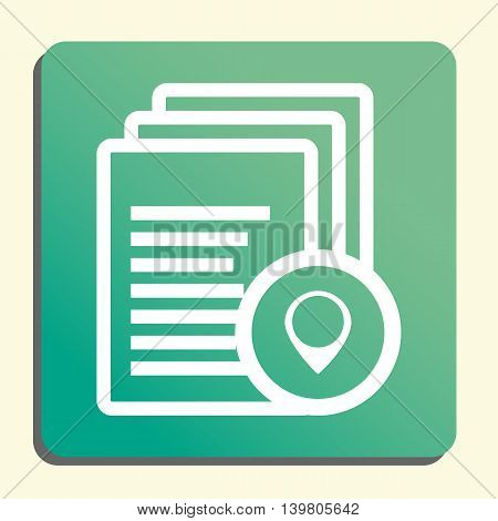 Files Location Icon In Vector Format. Premium Quality Files Location Symbol. Web Graphic Files Locat