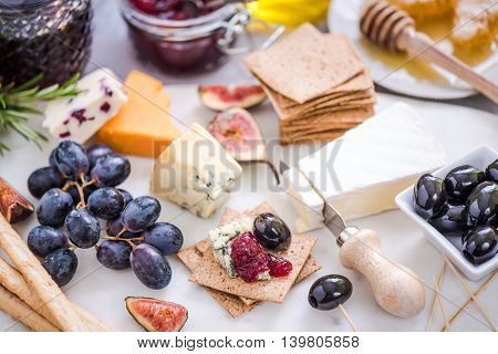 Serving Cheese Board With Wide Selection