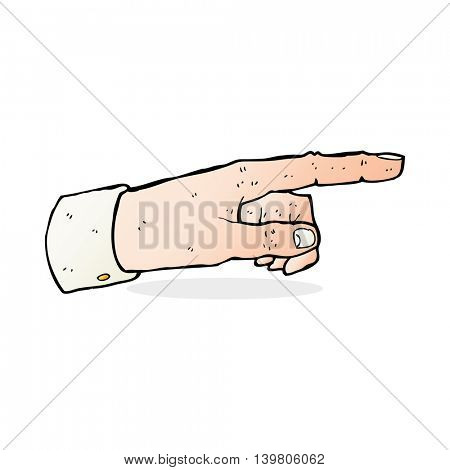cartoon pointing hand
