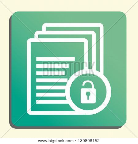 Files Lock Open Icon In Vector Format. Premium Quality Files Lock Open Symbol. Web Graphic Files Loc