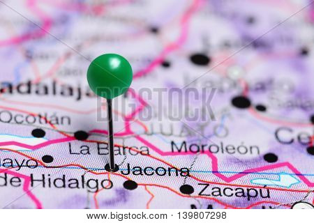 Jacona pinned on a map of Mexico