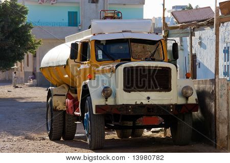 Old vintage truck on the egyptian street