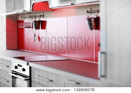 Bright kitchen interior