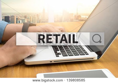 RETAIL SEARCH WEBSITE INTERNET SEARCHING man work