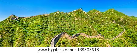Panorama of the Great Wall at Badaling - Beijing, China