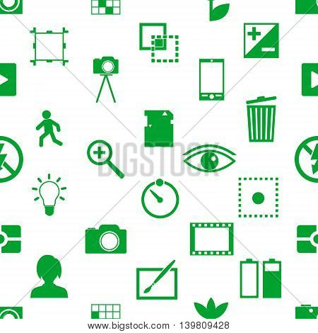 Photography And Camera Theme Simple Icons Seamless Pattern Eps10