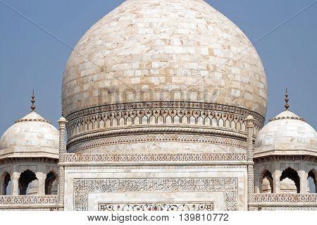 Domes of the Taj Mahal, Agra, India