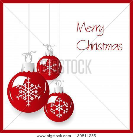Shiny Red Christmas Decoration Baubles Hanging Eps10