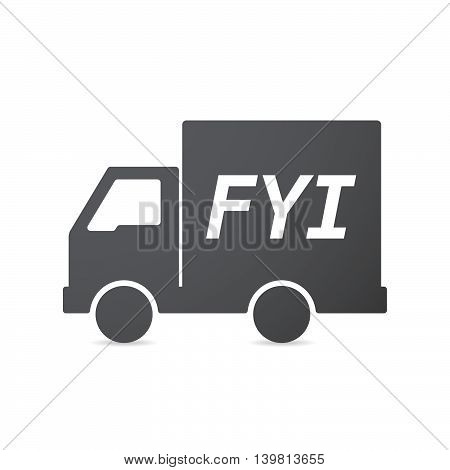 Isolated Truck Icon With    The Text Fyi