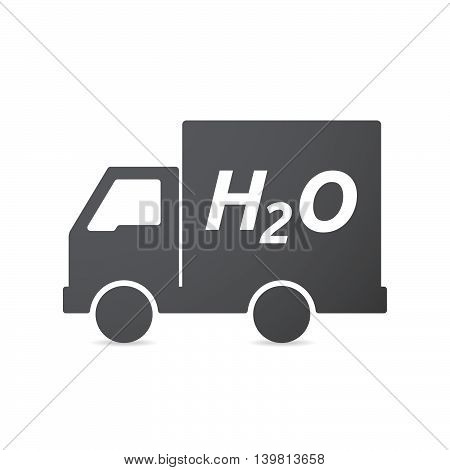 Isolated Truck Icon With    The Text H2O