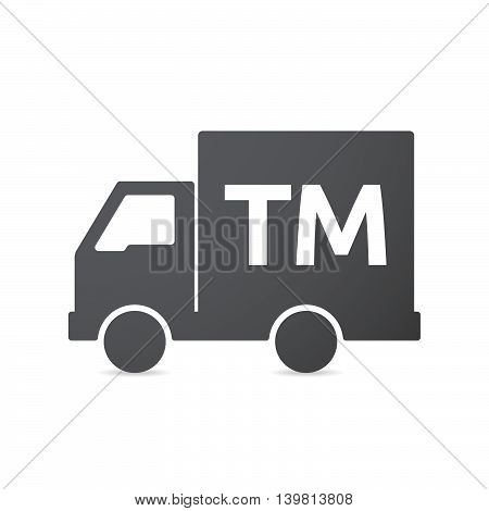 Isolated Truck Icon With    The Text Tm
