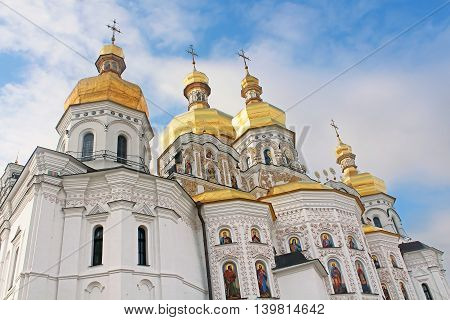Domes of cathedral the Assumption, Kyiv, Ukraine