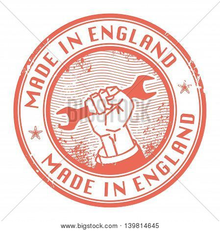 Grunge rubber stamp with words Made in England inside, vector illustration