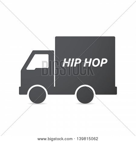 Isolated Truck Icon With    The Text Hip Hop