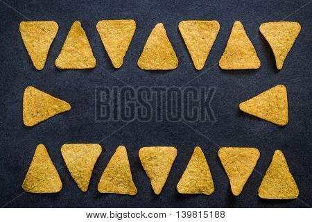 Nachos Crisps Frame Copy Space