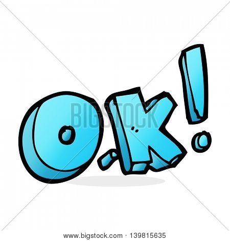 cartoon OK symbol
