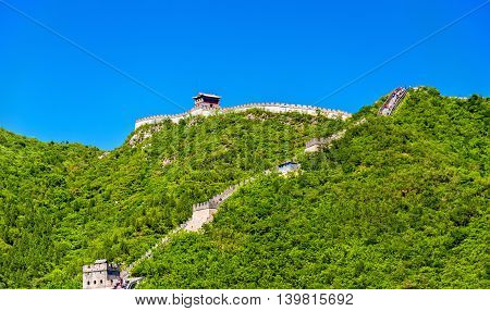 View of the Great Wall of China at Juyongguan - Beijing