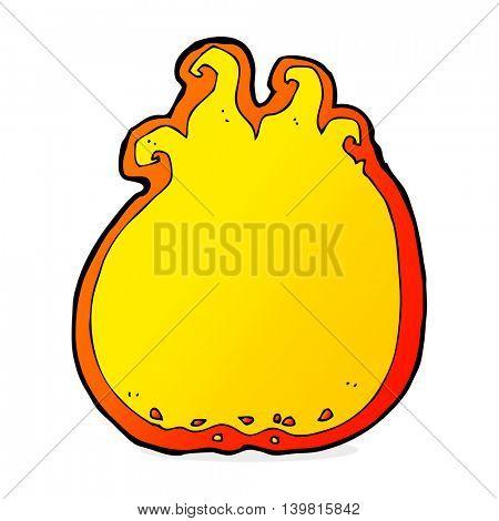 cartoon flame border