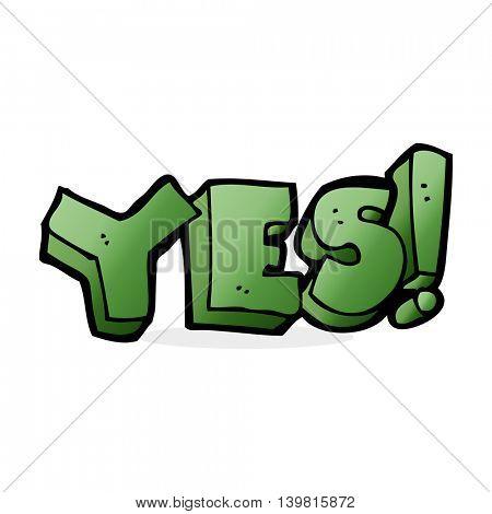 cartoon yes symbol