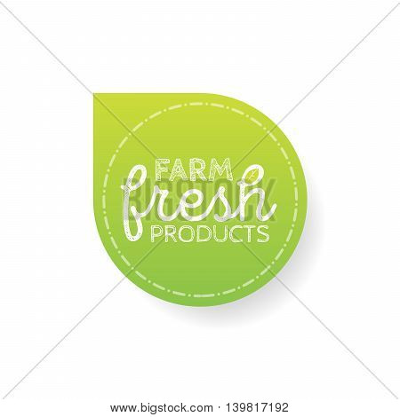 Stamp with text farm fresh product inside, vector illustration.