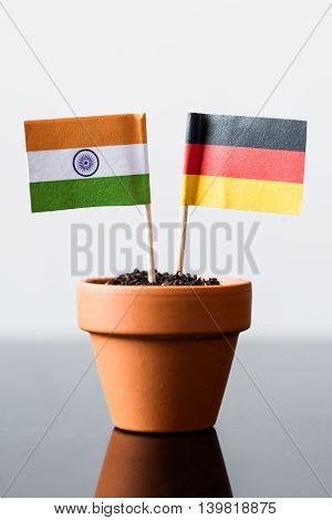 Flags Of Germany And India
