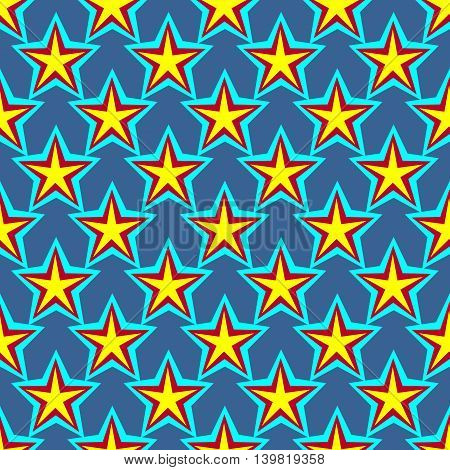 Star geometric seamless pattern. Fashion graphic background design. Modern stylish abstract texture. Colorful template for prints textiles wrapping wallpaper website etc Stock VECTOR illustration