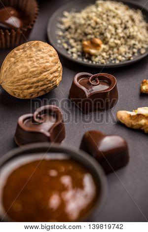 Heart Shaped Chocolate Praline