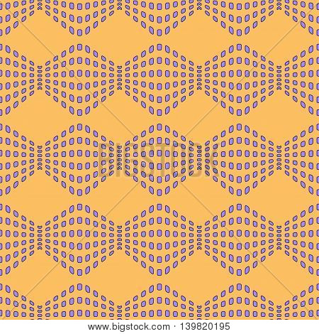 Rhombus chaotic seamless pattern. Fashion graphic background design. Modern stylish abstract color texture. Template for prints textiles wrapping wallpaper website etc. Stock VECTOR illustration