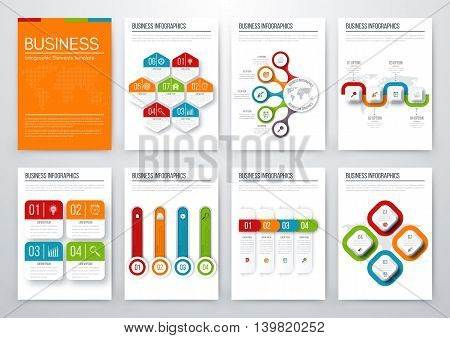 Modern infographic vector concept. Business graphics brochures. Used for workflow layout, diagram, number options, step up options, web template, infographics, websites, brochures, flyers and prints