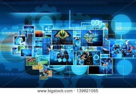 information server system network internet business COMPONENTS Vector illustration