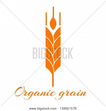 Logotype template with wheat. Easy to use business template.