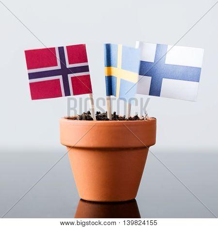 Flags Of Scandinavia Nations