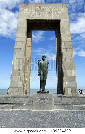 Statue Of Belgian King Leopold I At De Panne, Belgium