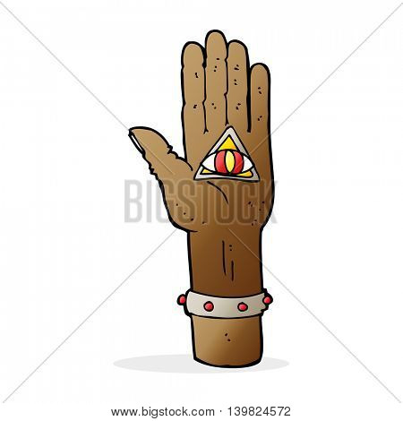 cartoon spooky hand symbol