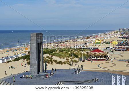 The Belgian Coast In Summer At De Panne, Belgium