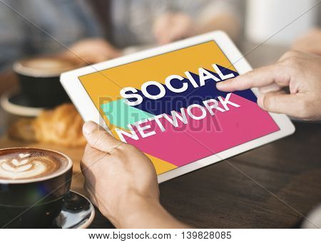 Social Media Network Community Connection Chat Concept