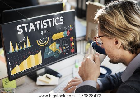 Statistics Percentage Business Chart Concept