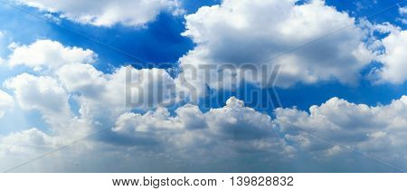 Clouds and blue sky for Background Atmosphere sky panorama view in sunny day